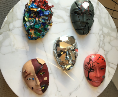 Masks created by military service members